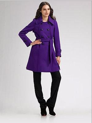 Sonia by Sonia Rykiel purple coat