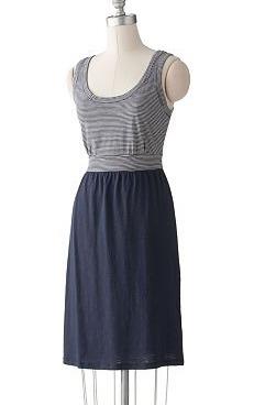 Casual Striped Tank Dress