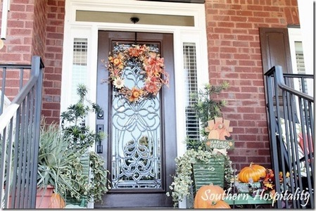 A Southern-style front door