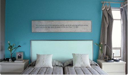 Gray, blue and purple themes : Spa-like - Bedroom