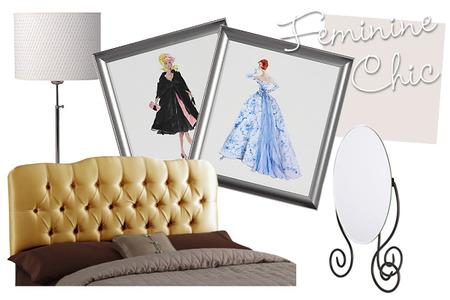 Feminine chic bedroom