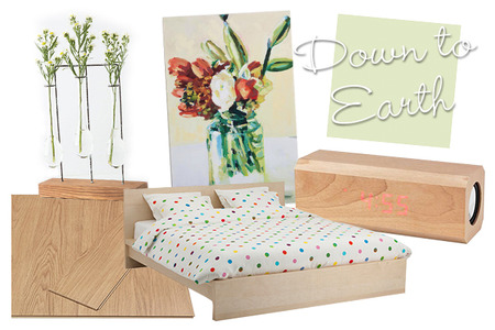 Down to earth bedroom