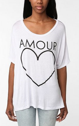 Sparkle & Fade Heart Amour Oversized Tee