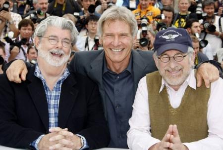 Spielberg, Lucas and Ford premiere Indiana Jones 4