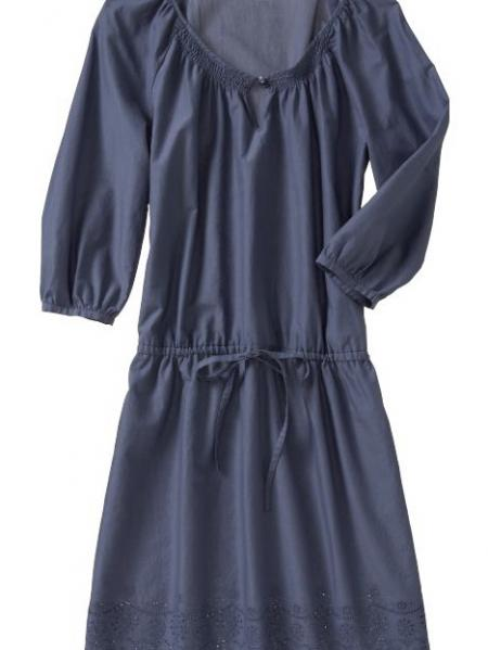 Drawstring-Waist Tunic Dress