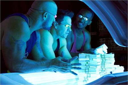 Wahlberg, Mackie and Johnson in Pain & Gain