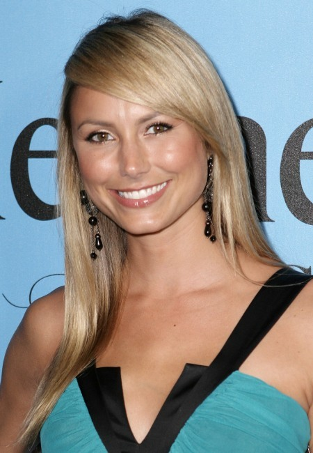 Stacy Keibler's long, blonde hairstyle