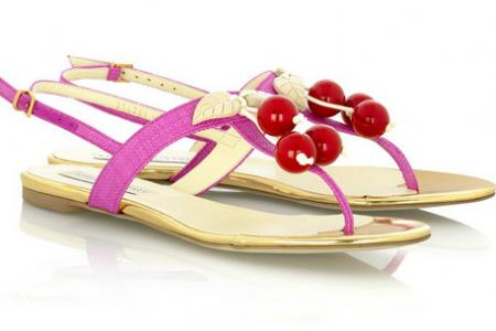 Stella McCartney Cherry Thong Sandals