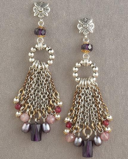 Stephen Dweck Amethyst Dangle Earrings