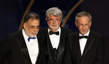 Steven Spielberg and George Lucas at the Academy Awards