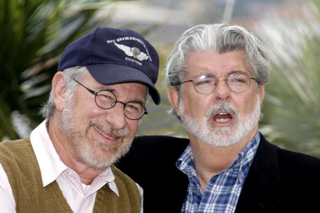 Steven Spielberg and George Lucas at the Cannes Film Festival