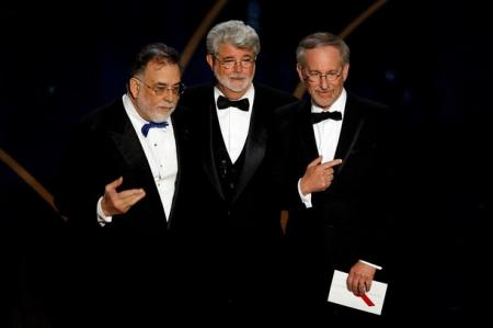 Steven Spielberg, George Lucas and Francis Ford Coppola at the Academy Awards.