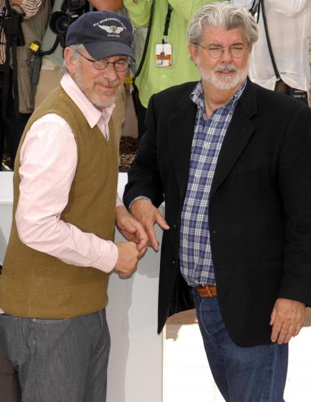 Steven Spielberg and George Lucas have a conversation at the Cannes Film Festival
