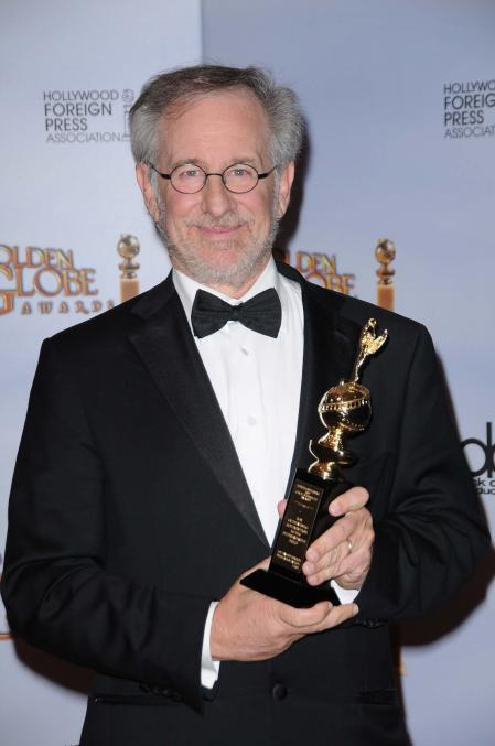 Steven Spielberg at the Golden Globes