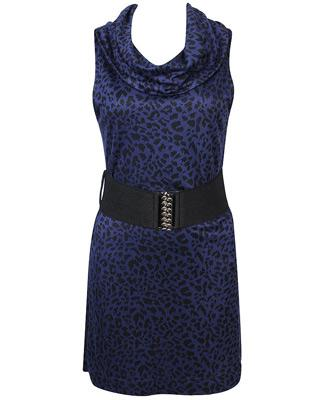 Spotted Knit Dress w/ Belt