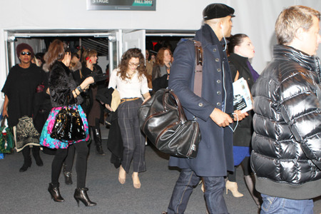 Fashion Week crowd