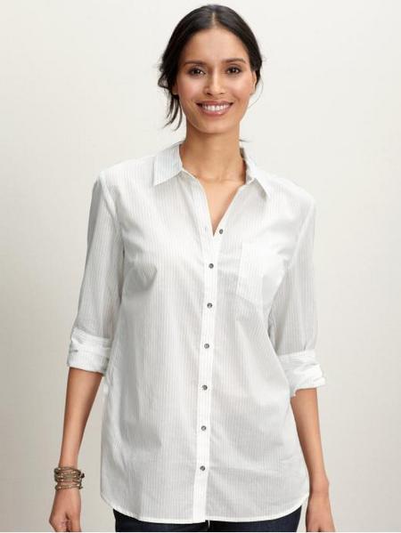 Stripe Peplum Shirt