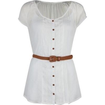 Tilly's women's chiffon peasant tunic