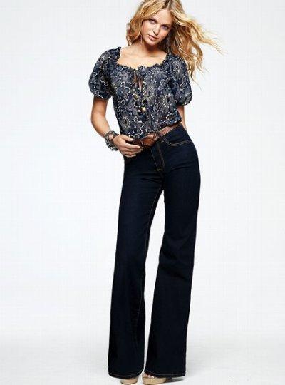 Victoria's Secret high-waist flare jeans