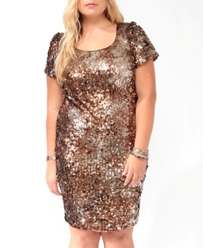 Forever 21 Sparkling Paillettes Dress