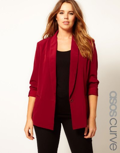 ASOS Curve Loose Fit Blazer