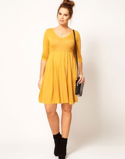 ASOS Curve Knitted Dress with Zip Back 