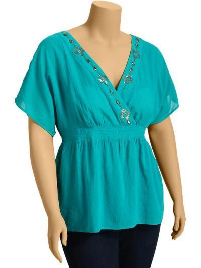 Old Navy beaded gauze tops 