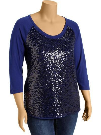 Old Navy sequined jersey tops 