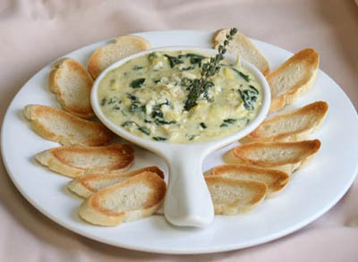 Gooey spinach and artichoke dip