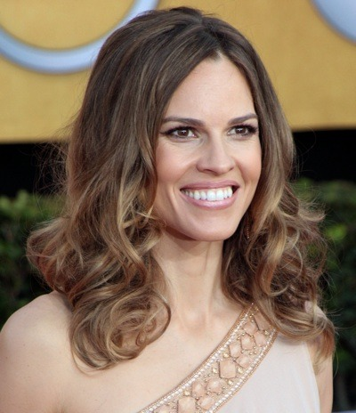 Hilary Swank in long waves