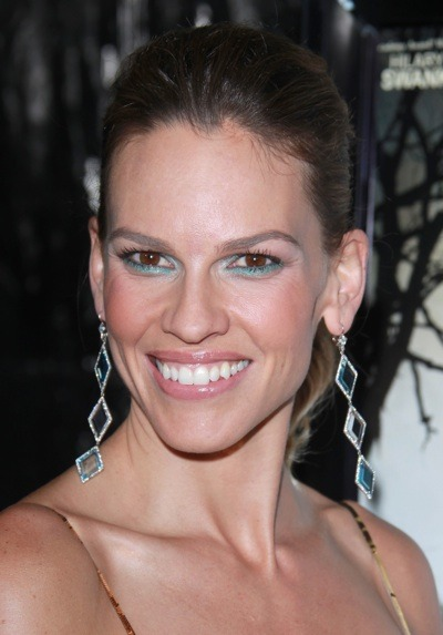 Hilary Swank with up-do