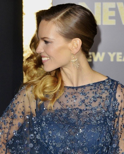 Hilary Swank in ponytail