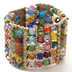 Sweet Romance Glass Cuff Bracelet