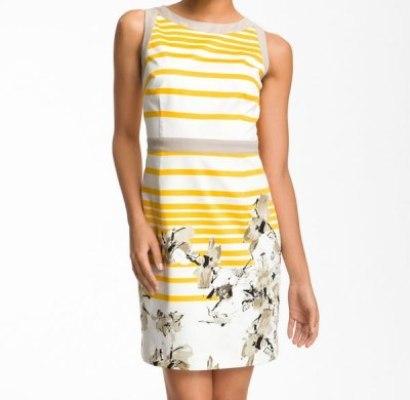 T Tahari-Floral Dress
