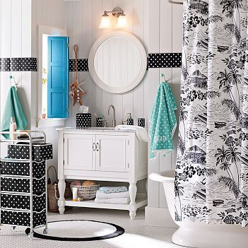 Bathroom decorating ideas. Tahitian Teen Bathroom