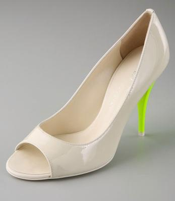 Tapeet Open Toe Pumps