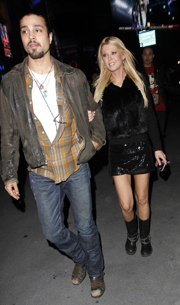 Tara Reid arrives at Staples Center to watch Jay-Z