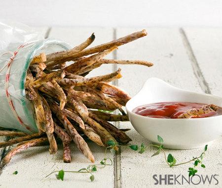Taro fries with sriracha ketchup