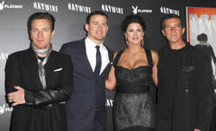 Channing Tatum poses with &amp;quot;Haywire&amp;quot; cast
