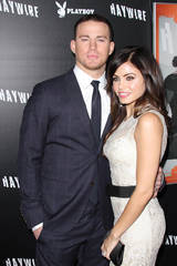 "Channing Tatum and wife Jenna Dewan-Tatum premiere ""Haywire"""