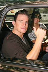 Channing Tatum gives a thumbs up