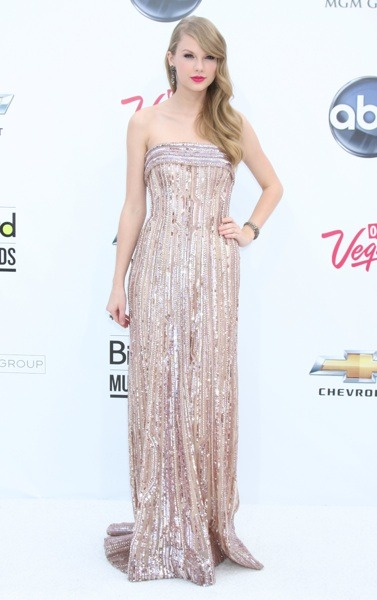 Taylor Swift in an evening gown