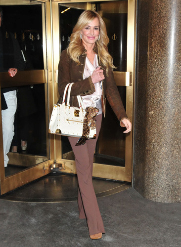 Taylor Armstrong leaves NBC Studios in NYC