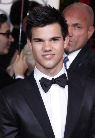 Taylor Lautner at the Golden Globes