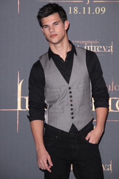 Taylor Lautner Spain New Moon photocall