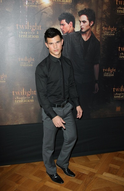 Taylor Lautner New Moon French photocall