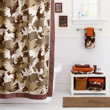 Teen Camo Bathroom - Bathroom decorating ideas
