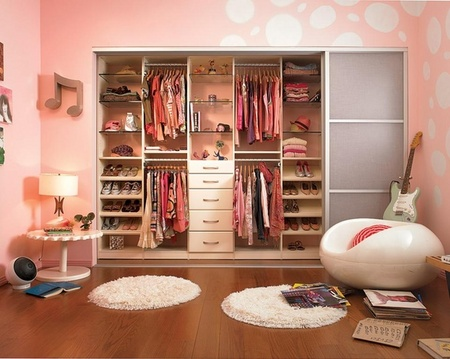 Stylish reach in closets elegance dream home design for Walk in closet ideas for teenage girls