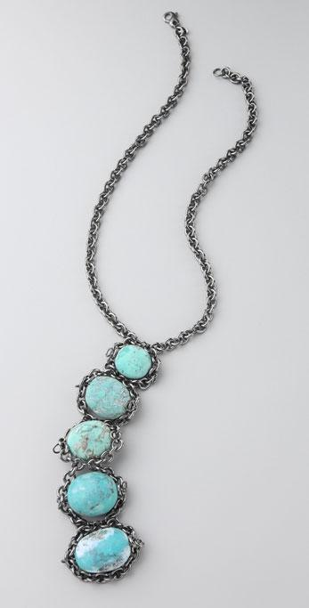 Flutter by Jill Golden Turquoise Necklace