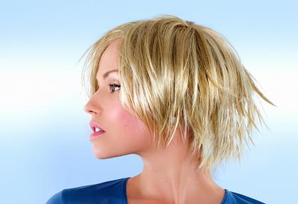 Short hairstyles: Textured Tapered Bob